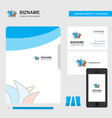 sydney business logo file cover visiting card and vector image vector image