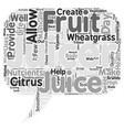 The benefits of juicers text background wordcloud vector image vector image