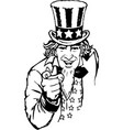 uncle sam eps 10 vector image vector image