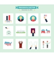 usa presidential election icons set vote concept vector image