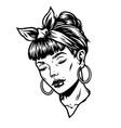 vintage concept pretty woman head