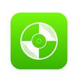 vinyl record icon digital green vector image