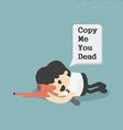 Warning Copy Cartoons concepts vector image