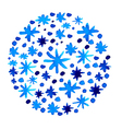 watercolor beautiful blue snowflakes background vector image vector image