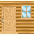 Window and door in house from tree vector image vector image