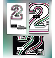 Business card design with number 2 vector image