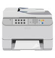 Realistic printer scanner vector image