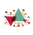 308abstract triangle designVS vector image vector image