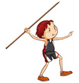 A simple sketch of a boy playing with the stick vector image vector image