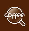 Abstract logo coffee cup vector image vector image