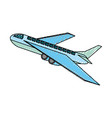 airplane taking off vector image vector image