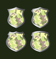 army camouflage shield vector image vector image