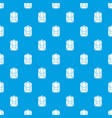 backpack pattern seamless blue vector image vector image