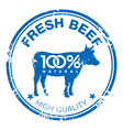 Beef stamp vector image vector image