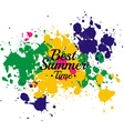 Best Summer 2014 Water Color abstract vector image vector image