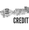 better deals on a bad credit secured loan text vector image vector image