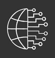 big data chalk icon vector image