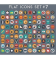 Big set of flat icons with modern colors vector image vector image