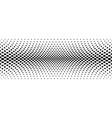 Black halftone bilinear horizontal gradient line
