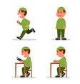 boy muslim school kid flat character vector image vector image