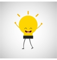 bulb character design vector image