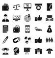 business start up icons set simple style vector image vector image