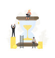 business time management people save vector image vector image