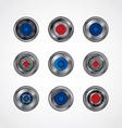 camera photography button logotype set vector image