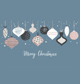 christmas banner template with retro vector image