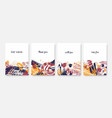 collection postcard templates with inspiring vector image vector image