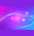 colorful color line waves abstract background vector image