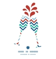 colorful ikat chevron toasting wine glasses vector image vector image