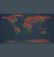 colorful map of the world vector image vector image