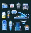 cryonics human organs transplantation icons vector image vector image