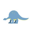 cute cartoon dinosaur prehistoric and jurassic vector image vector image