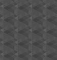 dark grey geometric seamless pattern background vector image
