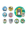 Detailed round flat color smart house icons vector image vector image