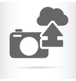 digital camera cloud icon vector image vector image
