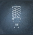 energy saving light bulb icon chalkboard sketch vector image vector image