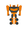 fantasy robot transformer icon flat isolated vector image vector image