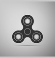 fidget spinner icon stress relieving toy vector image