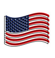 flag united states of america waving design vector image vector image