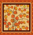 floral pattern decor for silk tiussiue delicate vector image vector image