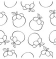 fruit style pattern hand draw vector image vector image