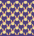 funny bunny pattern vector image vector image