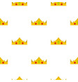 gold royal crown pattern seamless vector image vector image