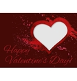 Hand-drawn watercolour Valentine day card vector image vector image