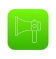 hand speaker icon green vector image vector image