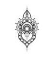 henna mehndi vector image vector image