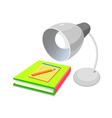 icon stand and book vector image vector image